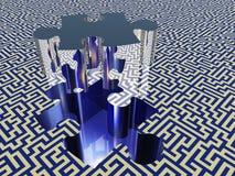 Puzzle maze Stock Images