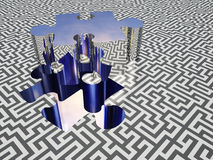 Puzzle maze Stock Photography