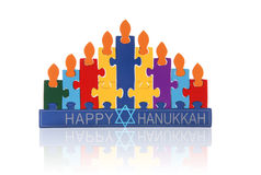 Puzzle Menorah Royalty Free Stock Photography
