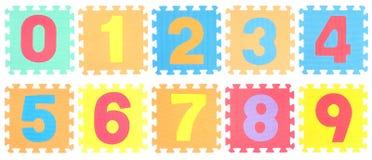 Puzzle messo con il numero Fotografia Stock Libera da Diritti