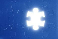 Puzzle, metafora di lavoro di squadra di comunicazione fotografia stock libera da diritti