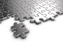 Puzzle - Metal Stock Image
