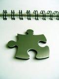 Puzzle metallico 3D reso Fotografia Stock Libera da Diritti