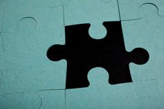 Puzzle - metaphor of strategy Royalty Free Stock Photo