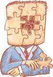 Puzzle in mia testa Immagini Stock