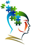 Puzzle mind. Isolated illustrated image Stock Images