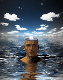 Puzzle Mind of Puzzle Man Royalty Free Stock Images