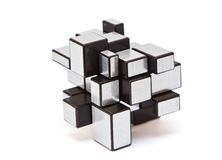 Puzzle Mirror blocks Stock Image