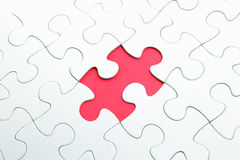 Puzzle with missing part Royalty Free Stock Images