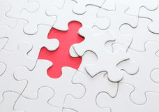 Puzzle with missing part royalty free stock image