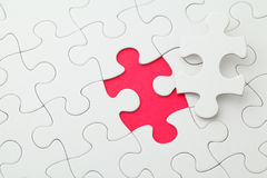 Puzzle with missing part Stock Photo