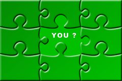 Puzzle with missing piece Stock Image