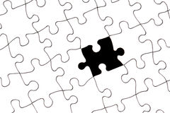 Puzzle with missing piece Royalty Free Stock Photos