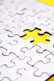 Puzzle missing piece Royalty Free Stock Images