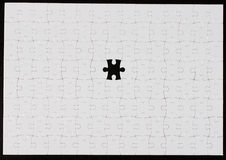 Puzzle,the missing piece. Blank Puzzle,the missing piece Royalty Free Stock Photos