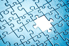 Puzzle with missing piece. Stock Images