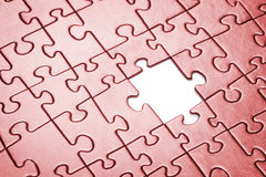 Puzzle with missing piece. Stock Photography