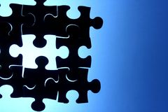 Puzzle with a missing piece Royalty Free Stock Photos