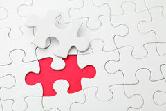 Puzzle with missing piece Royalty Free Stock Image