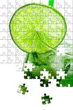 Puzzle with missing pieces Royalty Free Stock Photography