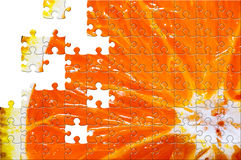 Puzzle with missing pieces Royalty Free Stock Photo