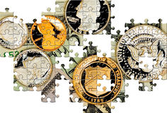 Puzzle with missing pieces Stock Photos