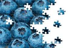 Puzzle with missing pieces Stock Image