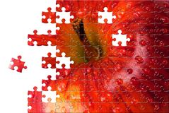 Puzzle with missing pieces Stock Photo