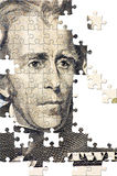 Puzzle with missing pieces Stock Photography
