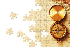 Puzzle with missing pieces Royalty Free Stock Image