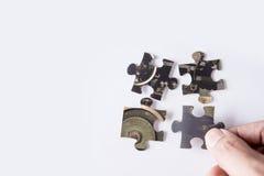 Puzzle mit Bild der Maschine lizenzfreies stockfoto