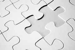 Puzzle mit fehlendem Stück Stockbild