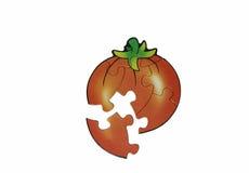 Puzzle mit Tomatenbild Stockfotos