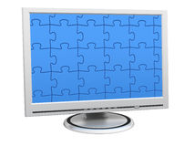 Puzzle Monitor Royalty Free Stock Photo
