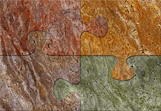 Puzzle mosaic texture royalty free stock image