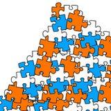 Puzzle mountain Stock Photo