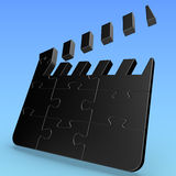 Puzzle Movie Clapper Royalty Free Stock Photography