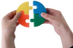 puzzle multi de coloure Images libres de droits
