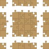 Puzzle-nahtloses Muster Lizenzfreie Stockbilder