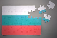 Puzzle with the national flag of bulgaria Stock Photography