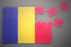 Puzzle with the national flag of chad Stock Image