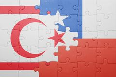Puzzle with the national flag of chile and northern cyprus Stock Photography