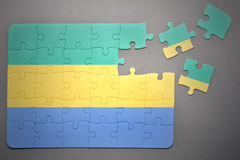 Puzzle with the national flag of gabon Royalty Free Stock Photo