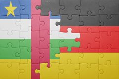 puzzle with the national flag of germany and central african republic Royalty Free Stock Photo