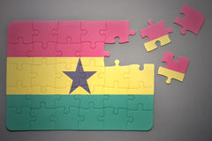 Puzzle with the national flag of ghana Royalty Free Stock Images