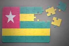 Puzzle with the national flag of togo Royalty Free Stock Photos