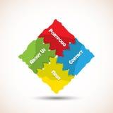 Puzzle navigation Royalty Free Stock Photo