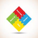 Puzzle navigation Royalty Free Stock Photos