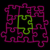 Puzzle neon Royalty Free Stock Photography