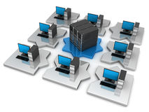 Puzzle Network computer Stock Image